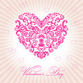 Abstract floral heart happy valentine day Royalty Free Stock Photos