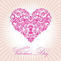 Abstract floral heart valentine day pink Royalty Free Stock Images