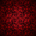 Abstract floral hot red Stock Image