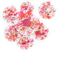 Abstract floral objects red and pink Royalty Free Stock Images