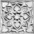Abstract floral ornament, bas-relief Royalty Free Stock Photo