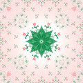 Abstract floral pattern illustration with clipping mask Royalty Free Stock Photography