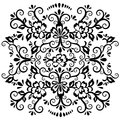 Abstract floral pattern, vector wicker ornament. Black ornate tracery in eastern style with a lot of curls and many details, arabe