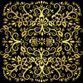 Abstract floral pattern, vector wicker ornament. Gold ornate tracery in eastern style with a lot of curls, arabesque, decor elemen