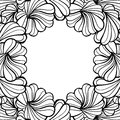 Abstract floral shapes vector frame Royalty Free Stock Photo
