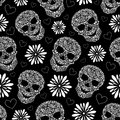 Abstract floral skulls Stock Images