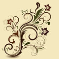 Abstract floral vintage design Stock Photos