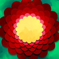 Abstract flower design vector illustration Stock Photography