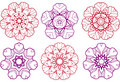 Abstract flower designs Stock Image