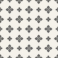 Abstract flower of four petals seamless pattern.