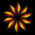 Abstract flower in German flag colours Stock Images
