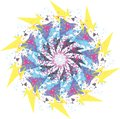 abstract flower pastel round mandala ornament