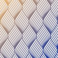 Abstract flower ripple pattern. Repeating vector texture. Wavy graphic background. Simple geometric waves. Royalty Free Stock Photo
