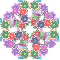 Abstract flower seamless pattern background Royalty Free Stock Photography