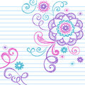 Abstract Flower Sketchy Notebook Doodles Royalty Free Stock Image