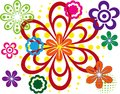 Abstract flower spring illustration  Royalty Free Stock Photography