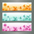 Abstract Flower Vector Background / Brochure Templ