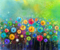 Abstract flower watercolor painting Royalty Free Stock Photo