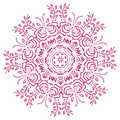Abstract flowers mandala Stock Photos