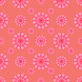 Abstract flowers on pink background