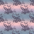 Abstract flowers retro seamless pattern on grey background vintage Royalty Free Stock Images