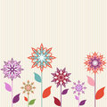 Abstract flowers on striped background Royalty Free Stock Photography