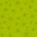 Abstract flowers vector seamless pattern in green tints this is file of eps format Royalty Free Stock Photo