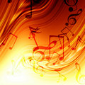 Abstract flowing fire background with notes Stock Photo