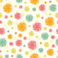 Abstract fluffy shapes seamless pattern background vector with hand drawn elements Stock Photography