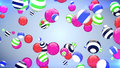 Abstract flying balls of different colours background Royalty Free Stock Photo