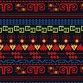 Abstract folk ethnic backgroud design in vector