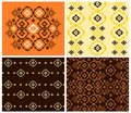 Abstract and folk patterns Royalty Free Stock Photo