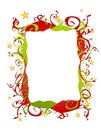 Abstract Folksy Christmas Border or Frame Royalty Free Stock Photos