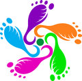 Abstract foot print Stock Photos