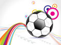 Abstract football background design Royalty Free Stock Photography