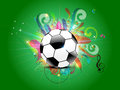 Abstract football background with floral Stock Photo