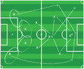 Abstract football tactic design Royalty Free Stock Images