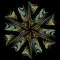 Abstract fractal art color colorful round decoration like snow shape