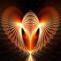 Computer digital fractal art abstract factals fantastic red heart