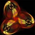 Digital computer fractal art abstract fractals mystic futuristic shining objects