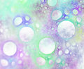 Abstract fractal background with bubbles or foam closeup texture Royalty Free Stock Photo