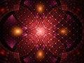 Abstract fractal fantasy magenta pattern . Royalty Free Stock Photo