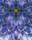 Abstract Fractal Floral Cross ...