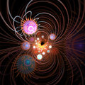 Abstract Fractal Layout Royalty Free Stock Photos