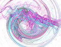 Abstract Fractal On A White Ba...