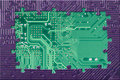 Abstract frame from circuit board puzzle Stock Photo