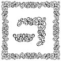 Abstract frame decorative ornament vector decorative corner Stock Image
