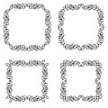 Abstract frame decorative ornament vector decorative corner Stock Photos