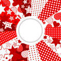 Abstract frame stars hearts patterned background place your text Royalty Free Stock Images