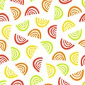 Abstract fruit segment pattern. Simple seamless summer background.